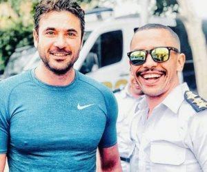 «أروى جودة في الكادر».. أحمد عز ينشر صورة جديدة من «أبو عمر المصرى»