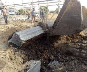 إزالة 31 حالة تعد بالبناء المخالف على الأراضي الزراعية في الشرقية