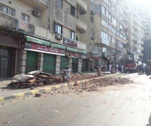 وفاة شخص سقطت عليه لوحة إعلانية في الإسكندرية «صور»