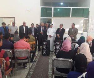 بدء محاضرات القافلة التعليمية لطلبة الثانوية العامة ببئر العبد بشمال سيناء (صور)