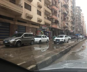 أمطار غزيرة تضرب مدينة المنصورة بالدقهلية (لفيديو وصور)