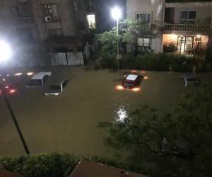 الأموال العامة تحقق في أسباب تراكم الأمطار بالقاهرة الجديدة