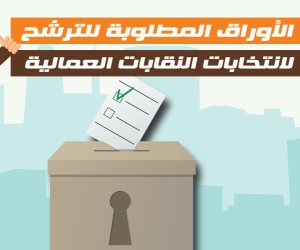 الأوراق المطلوبة للترشح لانتخابات النقابات العمالية (فيديوجراف)