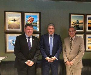 وزير الطيران يلتقى السكرتير العام للمنظمة العالمية للأرصاد الجوية