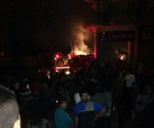 حريق فى 5 منازل نتيجة ماس كهربائى بقرية المراشدة بقنا