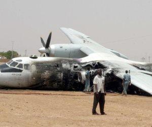 مصرع 3 طياريين في سقوط طائرة عسكرية ليبية بحقل الشرارة النفطي