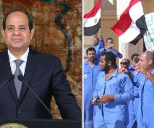 المصريون جبروا بخاطري ولماذا نجح القطاع الخاص وفشل العام؟.. رسائل السيسي في عيد العمال (صور)
