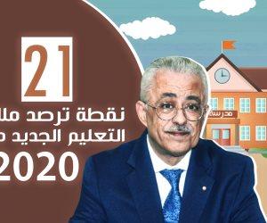 21 نقطة ترصد ملامح خطة نظام التعليم الجديد 2020 (فيديوجراف)