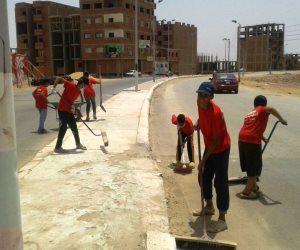 «النظافة مسئولية الجميع».. حملة عامة بأسوان بعد تداعيات العاصفة الترابية (صور)