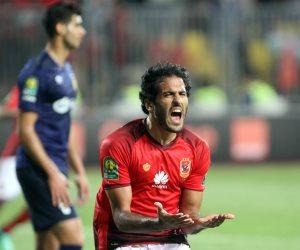 مروان محسن يظهر في مران فريق الأهلي بعد انتهاء أزمته بالتصالح