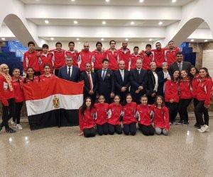 مجلس الجمباز يستقبل بعثة مصر القادمة من ناميبيا في مطار القاهرة