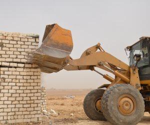 إزالة 24 حالة تعدى على 9953 فدانا من أراضي أملاك الدولة ببني سويف (صور)