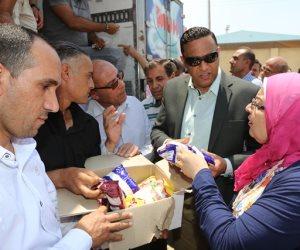 توزيع 24 ألف كرتونة بالتنسيق بين القوات المسلحة ومحافظة المنوفية
