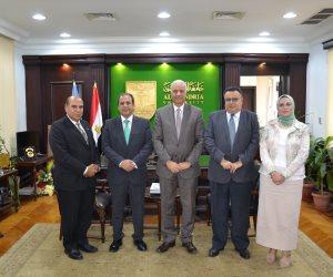 الكردي يستقبل نائب رئيس جامعة كارديف متروبوليتان للشئون الدولية بالمملكة المتحدة