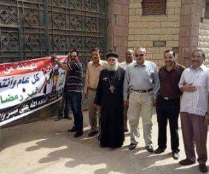 كنيسة أشمون في المنوفية تهنئ المواطنين بحلول شهر رمضان