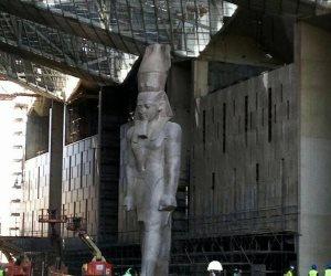 ننشر استعدادات المتحف الكبير لإنهاء عرض «رمسيس الثاني»