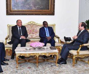 الرئيس يستقبل وزير خارجية السودان ويؤكد استمرار العلاقات التاريخية بين البلدين
