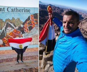 المغامر مازن حمزة المصري.. أول معاق يتسلق الجبال (صور)