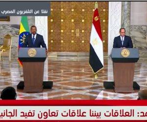 الرئيس السيسي يُحلف رئيس وزراء أثيوبيا: والله والله لن نمس حصة مصر من المياه