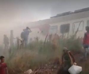 المعمل الجنائي : ماس كهربائي بالوصلات وراء حريق قطار كفر الزيات