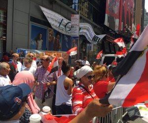 الجالية المصرية في فيينا تحتفل بخلع الإخوان: أعلام مصر تزين شوارع النمسا