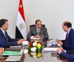 الرئيس السيسي يطلع على الخطة الاستراتيجية لتطوير شبكة لوجستيات النقل