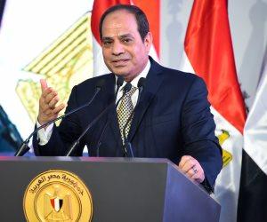 عبر الفيديو كونفرنس.. الرئيس السيسي يفتتح مشروع محور الدائري الإقليمي على النيل