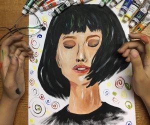 المأساة أم الإبداع.. «مي» تبهر النشطاء بلوحة رسمتها بعد رسوبها في اختبار القدرات (صور)