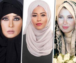 فنانات تحت الطرحة.. شاهد أنغام الخليجية ولطيفة الصعيدية وسميرة في الشعبي (صور)