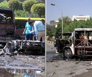 تفحم سيارتين بمطلع كوبري أكتوبر إثر انفجار ملاكي (صور وفيديو)