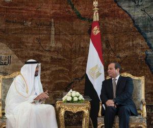 ولي عهد أبو ظبي يغادر القاهرة: «تشاورت مع أخي حول أهم القضايا الإقليمية والدولية»