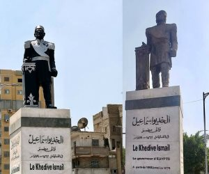أزمة تشويه تمثال الخديوى إسماعيل تصل البرلمان.. من المسئول عن إهانة الرموز؟ (صور)
