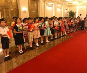 استقبال حافل في انتظار الرئيس السيسى بقاعة الشعب في بكين (فيديو وصور)