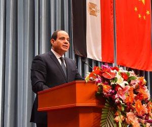 خلال افتتاح الدائري الإقليمي.. الرئيس السيسي يوجه بتشكيل لجنة لتقييم الطرق القديمة