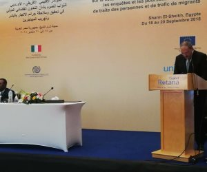 النائب العام يختتم فعاليات المؤتمر الأفريقى الأوروبي بشأن الاتجار بالبشر وتهريب المهاجرين