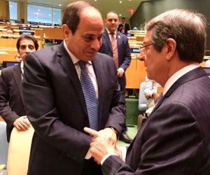 الرئيس السيسى يلتقي نظيره القبرصى في نيويورك