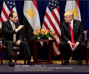 ترامب ينشر صور لقاءه مع السيسى ويؤكد: كان لقاءً عظيماً