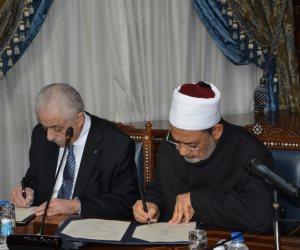 أول تحرك لتنفيذ خطة بناء الإنسان المصري.. «الطيب» و«شوقي» يوقعان اتفاقية تعاون