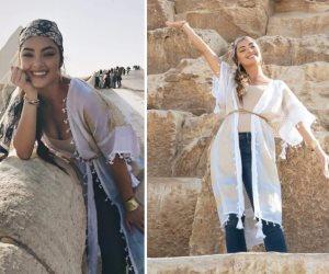 4 ساعات في حرم الحضارة.. ماذا فعلت ملكة جمال الكون في أهرامات الجيزة