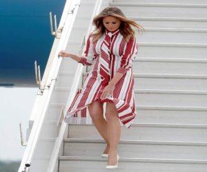 ميلانيا ترامب في حضرة الأهرامات.. رسائل زوجة الرئيس الأمريكي للعالم من أرض الفراعنة