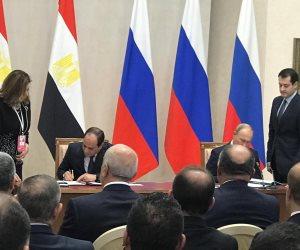 أهم ملامح العلاقات الاقتصادية والتجارية بين مصر وروسيا قبل قمة سوتشي
