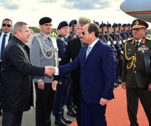 """السيسى يغادر """"برلين"""" عائدًا إلى مصر بعد زيارة رسمية 4 أيام"""