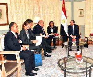 وزير الاقتصاد الألماني يوكد للسيسى التزام بلاده بتطوير الشراكة مع مصر