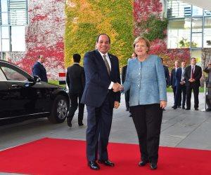 السيسي في برلين: «نجحنا في وقف تدفقات الهجرة غير الشرعية إلى أوروبا».. ( الكلمة الكاملة)