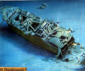 السفينة الغارقة SSThistlegorm.. من الحرب العالمية الثانية لأفضل موقع غطس بشرم الشيخ