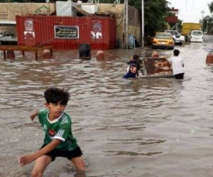 برقيات تعازي للرئيس العراقي في ضحايا السيول.. واستمرار عمليات الإنقاذ والإجلاء