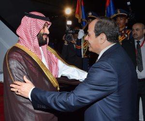 الرئيس السيسي يستقبل ولي العهد السعودي الأمير محمد بن سلمان بمقر رئاسة الجمهورية