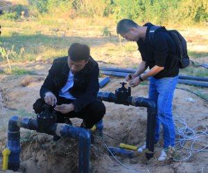 الري بواسطة الإنترنت.. تجربة جديدة لجامعة حلوان لتدريب الطلاب على طرق الزراعة الحديثة