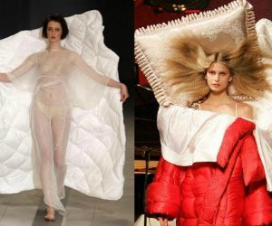 عروض الأزياء العالمية تواجه البرد.. موديلات شتاء 2019 تمتاز بـ«اللحاف» والمخدة