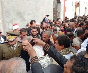 مشاهد من وداع شهيد مدينة نصر.. حمى الوطن وقدم روحه فداء للواجب (صور)
